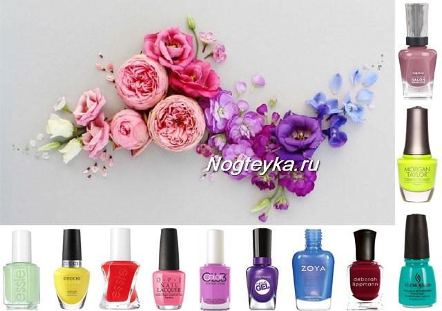 Модные цвета лаков для ногтей на весну-лето 2018 года