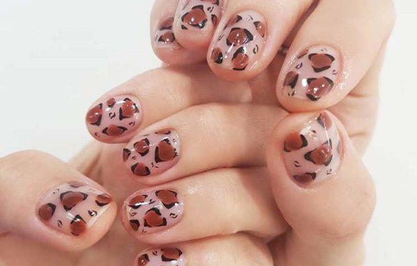 Леопардовый маникюр №2